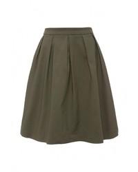 Оливковая пышная юбка от Motivi