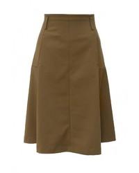 Оливковая пышная юбка от Patrizia Pepe