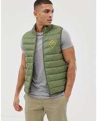 Мужская оливковая стеганая куртка без рукавов от Barbour Beacon