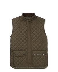 Мужская оливковая стеганая куртка без рукавов от Belstaff