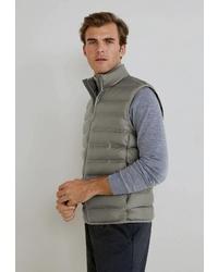 Мужская оливковая стеганая куртка без рукавов от Mango Man