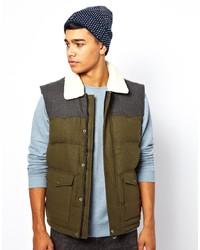 Мужская оливковая стеганая куртка без рукавов от Puffa