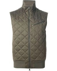 Мужская оливковая стеганая куртка без рукавов от Ralph Lauren