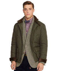 Оливковая стеганая полевая куртка