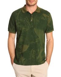 Оливковая футболка-поло