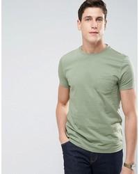 Мужская оливковая футболка с круглым вырезом от Asos