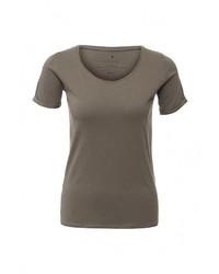 Женская оливковая футболка с круглым вырезом от Medicine