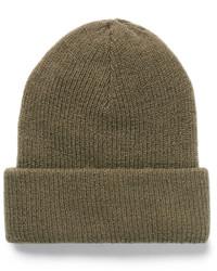 Мужская оливковая шапка от Acne Studios
