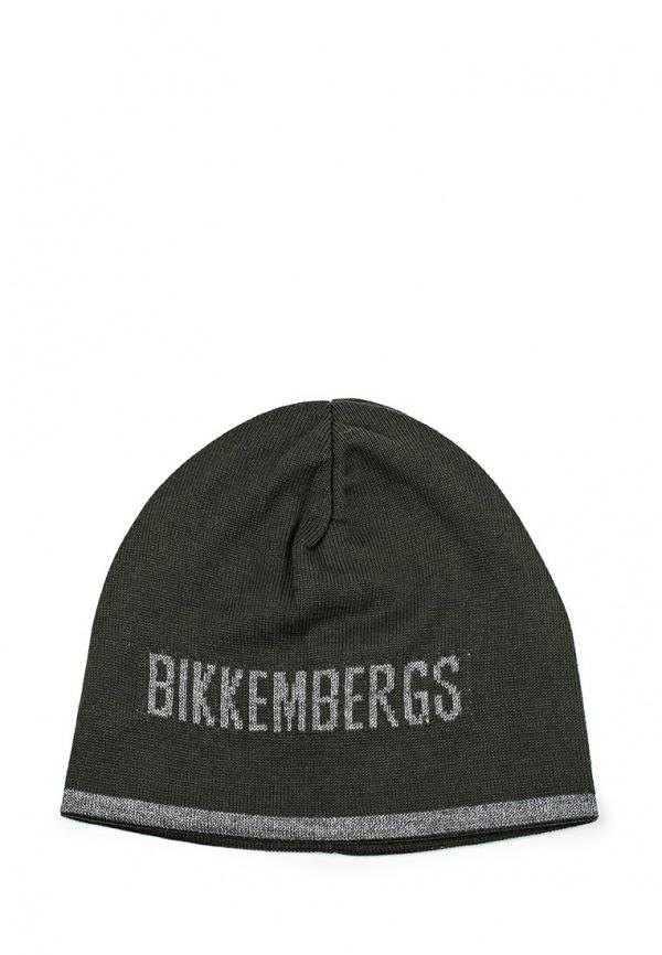 Мужская оливковая шапка от Bikkembergs