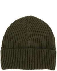 Мужская оливковая шапка от Maison Margiela