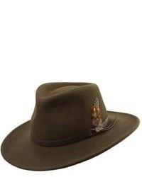 Оливковая шерстяная шляпа