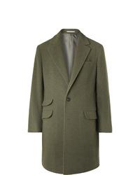 Оливковое длинное пальто от Brunello Cucinelli