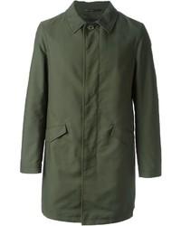 Оливковое длинное пальто от Etro