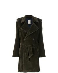 Оливковое длинное пальто от Paltò