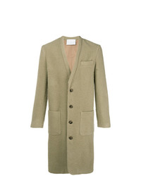 Оливковое длинное пальто от Societe Anonyme
