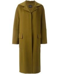 Оливковое пальто