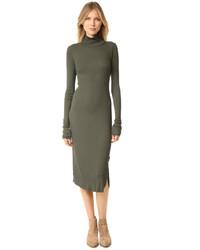 Женское оливковое платье-миди от Cotton Citizen
