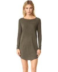 Оливковое платье-свитер от 360 Sweater