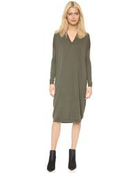 Оливковое платье-свитер от 6397