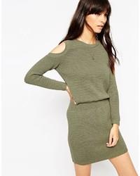 Оливковое платье-свитер от Asos
