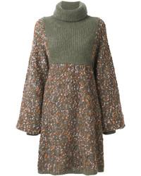 Оливковое платье-свитер от Chloé