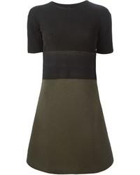 Оливковое платье-свитер от Neil Barrett