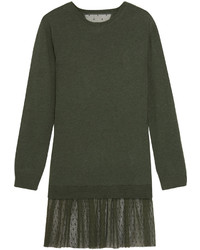 Оливковое платье-свитер от RED Valentino