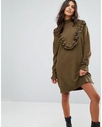 Оливковое платье-свитер от Vero Moda