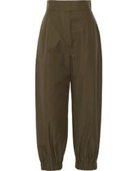 Женские оливковые брюки-галифе от Fendi