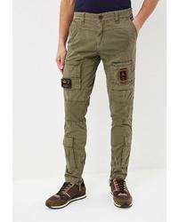 Оливковые брюки карго от Aeronautica Militare