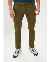 Оливковые брюки карго от BAWER