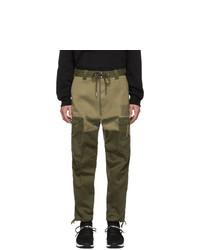 Оливковые брюки карго от Diesel