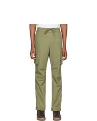 Оливковые брюки карго от John Elliott