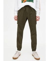 Оливковые брюки карго от Pull&Bear