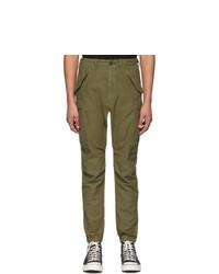 Оливковые брюки карго от R13