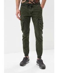 Оливковые брюки карго от Tony Backer