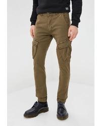 Оливковые брюки карго от Van Hipster