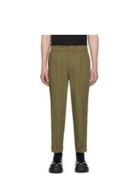 Оливковые брюки чинос от Acne Studios