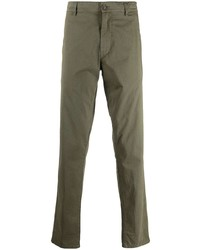 Оливковые брюки чинос от Aspesi
