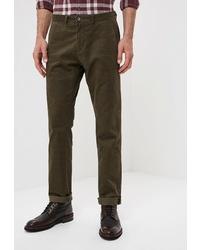 Оливковые брюки чинос от BAWER