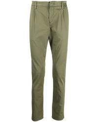 Оливковые брюки чинос от Dondup
