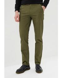 Оливковые брюки чинос от Elijah & Sims