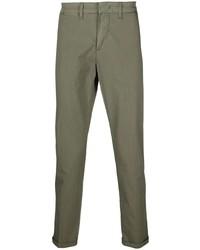 Оливковые брюки чинос от Fay