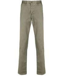 Оливковые брюки чинос от Incotex