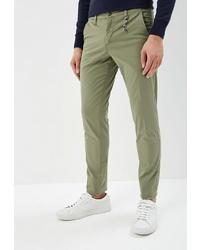 Оливковые брюки чинос от Malagrida