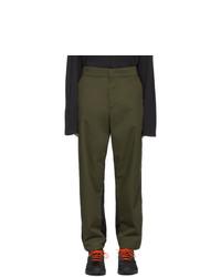 Оливковые брюки чинос от Moncler Genius