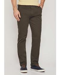 Оливковые брюки чинос от MOSSMORE