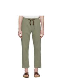 Оливковые брюки чинос от Nanushka