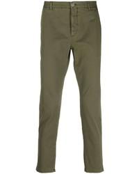 Оливковые брюки чинос от Pt01
