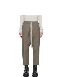 Оливковые брюки чинос от Rick Owens